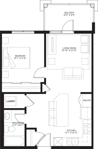 Unit A3 Floorplan
