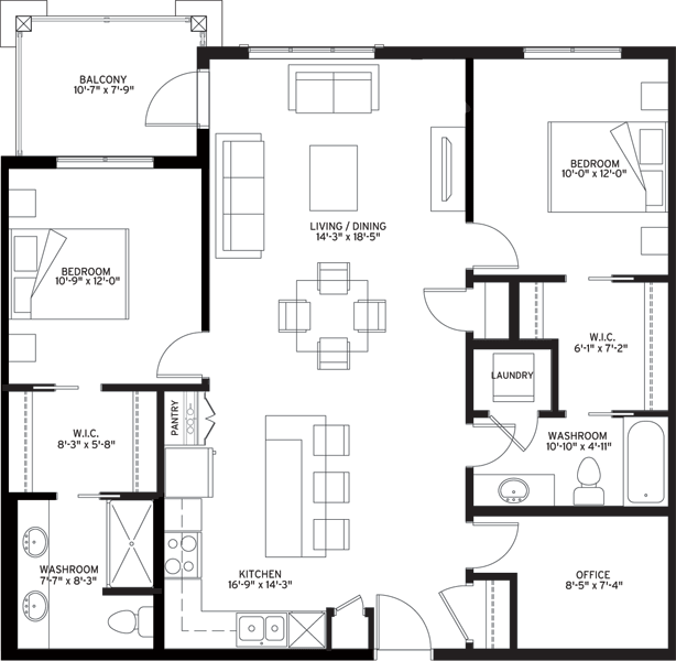 Unit B6 Floorplan